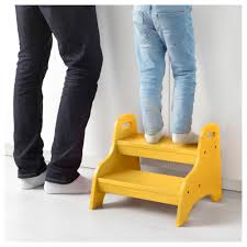 Ikea Step Stool Kid Trogen Children U0027s Step Stool Yellow 40x38x33 Cm Ikea