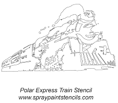 100 printable coloring pages trains polar express coloring