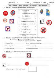 english worksheets must mustn u0027t worksheets page 9