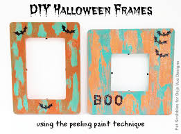 diy halloween frames deja vue designs