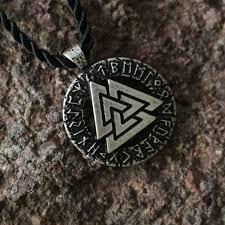 aliexpress men necklace images 1pcs wholesale slavic norway valknut pagan amulet pendant men jpg