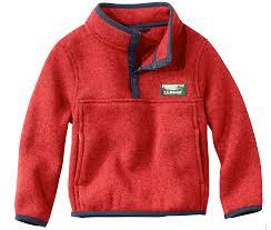 l l bean recalls toddler sweater fleece pullovers due to choking