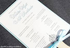fan programs for weddings modern wedding program phlets