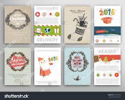 christmas vector vintage cards set xmas stock vector 343722953