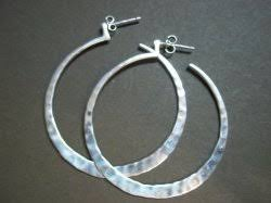 hammered hoops p1287 silpada sterling silver hammered hoop earrings