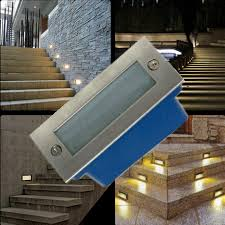 wall recessed stair lighting solar recessed stair lighting deck