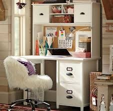 furniture white desk with drawers and shelves for house and