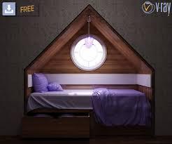 3d child room design cgtrader