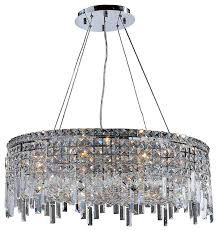 Elegant Crystal Chandelier Cascade 12 Light Chrome Finish And Crystal 28