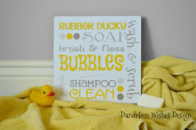 Yellow Bathroom Decor by Rubber Duck Bathroom Accessories