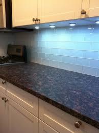 Kitchen With White Glass Subway Tiles Backsplash Contemporary - White glass tile backsplash