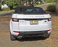 range rover evoque rear my test range rover evoque convertible was in hse dynamic trim
