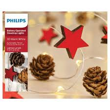 philips pine cone string lights philips 30ct christmas battery operated led mini pinecones and red