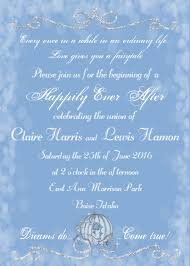 cinderella wedding invitation fairytale wedding invitation