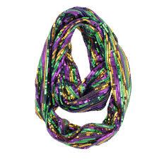 diy mardi gras bead bandana sequin infinity mardi gras scarf mardigrasoutlet