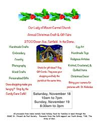 fairfield church to host 2 day holiday crafts gifts fair