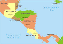 map central central america political map