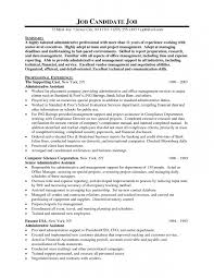 Sample Resume Format For Experienced Candidates by 9 Executive Administrative Assistant Sample Resume Resume