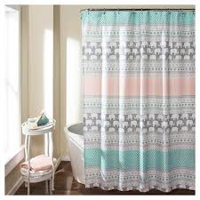 Turquoise Shower Curtains Elephant Stripe Shower Curtain Turquoise Lush Décor Target