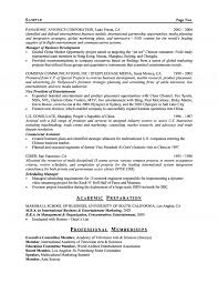 Resume For Board Of Directors Executive Resume