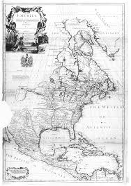 Map Of North America Map by 1710 Map Of North America English