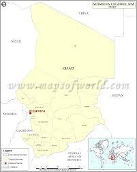 Chad Map Where Is N U0027djamena Location Of N U0027djamena In Chad Map