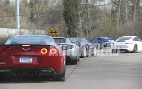 corvette vs audi r8 corvette spied testing with 458 italia audi r8 v10