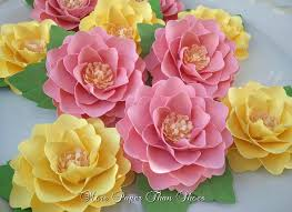 Paper Flower Paper Flowers For Decoration Zoom Paper Flower Centerpieces