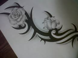 Tribal Tattoos With Roses - 30 black designs creativefan