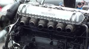rolls royce merlin rolls royce griffon v12 mk58 36 7 litre engine run at duxford
