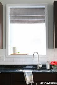 Kitchen Sink Window Treatments - diy faux roman shade for the kitchen diy playbook