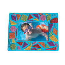 mosaic picture frame craft kit orientaltrading com cute idea for