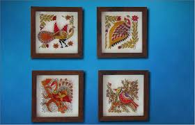 Wall Hangings Hand Paintings Glass Paintings Manik Trifaley - Indian wall hanging designs
