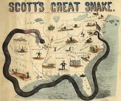 Battle Of Gettysburg Map The Anaconda Plan Of 1861 Early Civil War Strategy