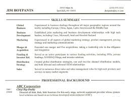 summary on a resume customer service skills for resume summary listing your skills for