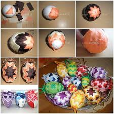 easter eggs decoration diy patchwork decorated easter eggs