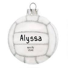 personalized volleyball christmas ornament unique volleyball