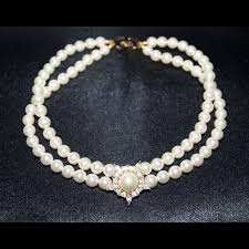 choker necklace pearls images Christian dior jewelry vintage christian dior pearl choker jpg