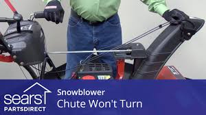 snowblower chute won u0027t turn chute control and gearbox issues