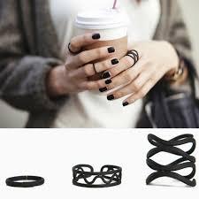 black ring black ring set