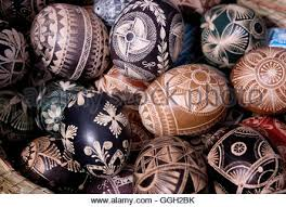 decorated eggs for sale decorated easter eggs for sale in a shop window austria stock