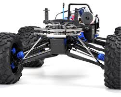 monster truck nitro 4 revo 3 3 4wd rtr nitro monster truck w tqi blue by traxxas