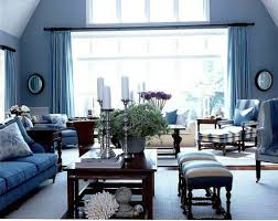 Pastel Blue Wall Color For Colonial Living Room Decorating Ideas - Colonial living room design
