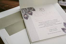 rose gold and letterpress art deco wedding invitations bella figura