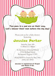 two peas in a pod custom digital baby shower invitation twin