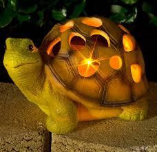 solar garden light tortoise patio ornament yard lawn outdoor led