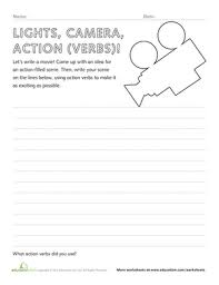 action verbs worksheets education com
