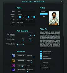 ui design cv 25 web developer resume templates free download psd word