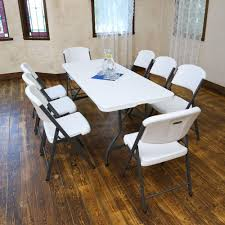 Folding Table by Lifetime 36 Piece White Folding Table And Chair Set 80410 The