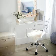 Lucite Office Desk Clear Lucite Desk Chair Acrylic Home Office Desks For A Clearly